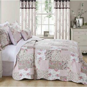 Prime Linens Floral Quilted Bedspread Set - Zurich (Super King) Pls Read Notes