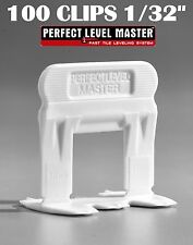 "1/32"" T-Lock 100 Clips - Perfect Level Master  - Tile Leveling System spacers"