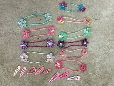 Girls Hair Bands/Bobbles x10 and Clips x8 From Claire's VGC