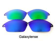 Galaxy Repuesto Lentes Para Oakley Rápido Chaqueta Gafas de sol azul / Verde