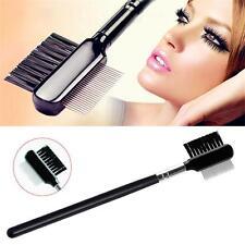 Fashion Eyelash Extension Eyebrow Metal Dual Comb Brush Eye Cosmetic Makeup Tool
