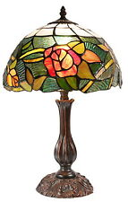 "Amazing ""Romantic Rose"" Style Tiffany Leadlight  Stained Glass Bedside Lamp"