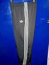 ADIDAS Vintage FIREBIRD TRACK PANTS Black 3 Stripe - LARGE