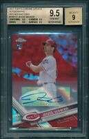 2017 Topps Chrome Up JESSE WINKER Red Refractor /25 RC AUTO BGS 9.5 Pop. 1 [BBE]