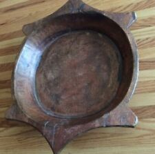 New listing Antique Wood Dough Bowl Gothic Look Hand Hewn Primitive Early