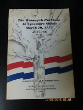 The Wataugah Purchase Sycamore Shoals 1775 1976 Tennessee McCown genealogy oop