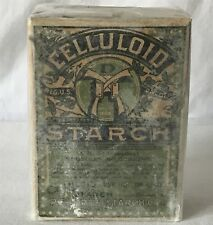 Antique c1905 Laundry Washing NEW HAVEN CELLULOID STARCH Box & Original Content