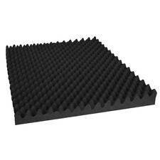 60x 50x50cm Eggshell Wedge Studio Acoustic Foam Sound Absorption Panels - Black