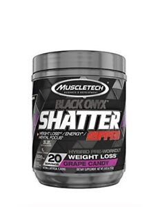 MuscleTech Shatter Ripped Black Onyx Grape Candy Pre-Workout - 20 Servings