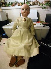 "German A&M   17""   370 doll on kid body and cloth"