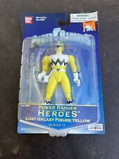 power rangers Heroes Lost Galaxy Figure Yellow  ban Dai Sealed Series 11 2004