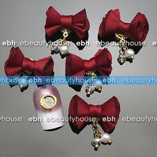 4 Pcs Fabric Magnet Jewelry 3D DIY Rhinestone Nail Art Decoration #EH-276B