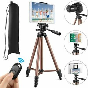 Phone Camera Tripod Stand Mobile Tablet Holder 125cm Remote Control Lightweight