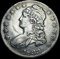 1833 Capped Bust Half Dollar Silver US ---- Nice Type Coin L@@K ---- #H083