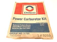 1973 CHEVY V8 ROCHESTER CARBURETOR REPAIR KIT NOS, IN SEALED DELCO PACKAGE!