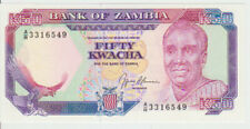 Zambia 50 Kwacha 1989-91 Pick 33b UNC