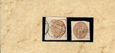 Pr / Mi.-Nr. GAA 17 (2) / 3 Sgr.-Wappen-GAA, viereckig bzw. rund geschnitten a.