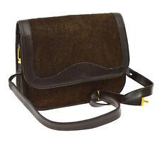 Auth Christian Dior Trotter Shoulder Bag Brown Suede Leather Italy VTG V11510