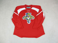 Reebok Florida Panthers Hockey Jersey Adult Large Red White NHL SEWN Mens A19