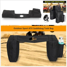 ATV Snowmobile Gas Tank Oxford Cloth Saddlebag Storage Bag with Water Bottle Bag