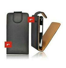COVER CASE FLIP FLAP ASPECT BLACK LEATHER HTC SALSA G15 BLACK SHELL