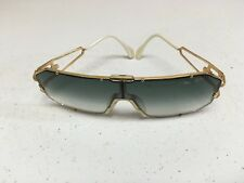 VINTAGE CAZAL 904 Gold Frame Dark Blue Lenses Sunglasses