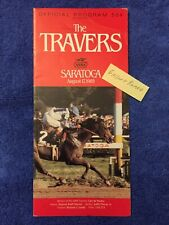 1985 TRAVERS PROGRAM CHIEFS CROWN PANCHO VILLA by SECRETARIAT KINGS BISHOP