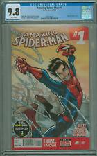 Amazing Spider-man #1 CGC 9.8 1st App Cindy Moon Silk Marvel 2014 Hot Book!!!!