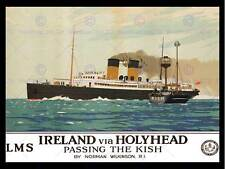 IRISH SEA FERRY KISH BOAT SHIP HOLYHEAD IRELAND NEW ART PRINT POSTER CC4512