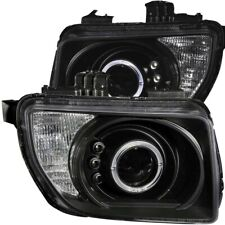 Anzo Projector Headlights Black w/ Halo LED For 03-06 Honda Element #121432