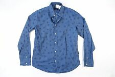 PAUL SMITH BLUE MEDIUM TAILORED FIT BUTTON DOWN SHIRT MENS NWT NEW
