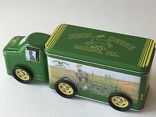 "John Deere 3pc Tin Truck On Wheels Moline IL Large 10"" L Toy Candy Box"