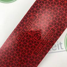 Geocaching Folie rot(10,00€/m) 5x10cm Streifen selbstklebend Oralite / Reflexite