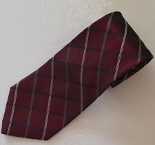 "Jones New York Men's Silk Tie MAROON BURGUNDY STRIPES WPL2831 4""W x 60"" Long"