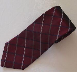 "Jones New York Men's Silk Tie MAROON BURGUNDY STRIPES WPL2831 4""W x 60"" Long"