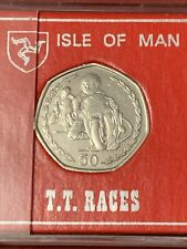 1996 Isle of Man TT Rare 50p Fifty Pence Coin Phillip McCallen AA Large 30mm UNC