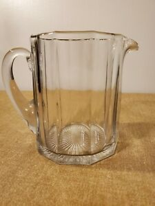 Antique Clear Glass Pitcher