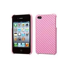 Groov-e GVIPHONE4CF iPhone 4/4S Carbon Fibre Mobile Phone Protective Case - Pink