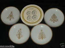 "Boston Warehouse Jeweled Holiday Porcelain Dessert Plate Set of 4 6.5"" Christmas"