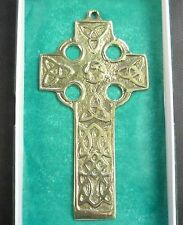 Irish Brass Hand Crafted Ireland Cross Small
