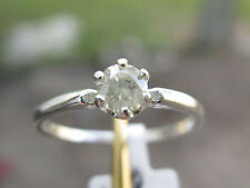 .30ct DIAMOND SOLITAIRE RING,STERLING SILVER, CLEARANCE ITEM, SIZE 6