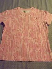 JUNIORS MOSSY OAK FITTED STRETCHY T-SHIRT sz LARGE