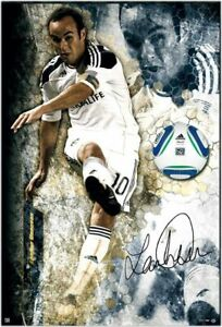 "Landon Donovan Hand Signed Autograph Break Thru Image Only 35""x47"" Photo UDA /25"