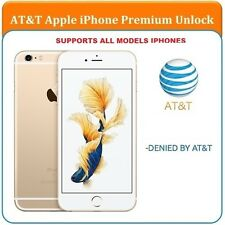 SEMI PREMIUM AT&T Factory Unlock Code Service for iPhone 4 4S 5 5C 5S 6 6+ 6s 7