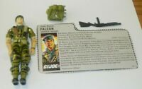 1987 GI Joe Falcon Army Green Beret v1 Action Figure w/ File Card *Not Complete