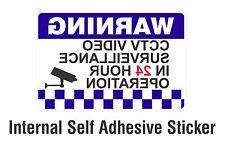 Warning CCTV Security Surveillance Camera Decal Sticker Sign 100x150mm INTERNAL
