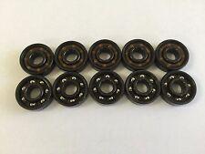 10 pcs 608 Fidget Spinner BLACK bearing Super Fast  NO Grease