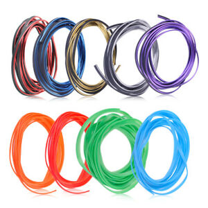 Car Flexible DIY Interior Moulding Strip Line Acc Chrome Shiny And Pure Colors