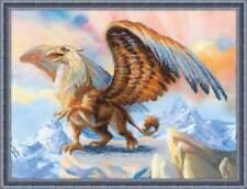 Stickpackung Stickbild sticken 40x30 cm Griffin Tukan Fantasy Fantasie