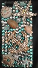 Ocean Anchor Starfish Sea Shells Jeweled Rhinestone Bling iPhone 6 6S Cover Case